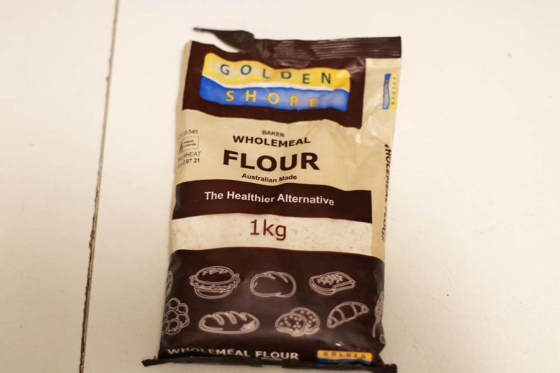 A bag of wholegrain bread flour