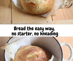 No knead bread in a pot just out f the oven