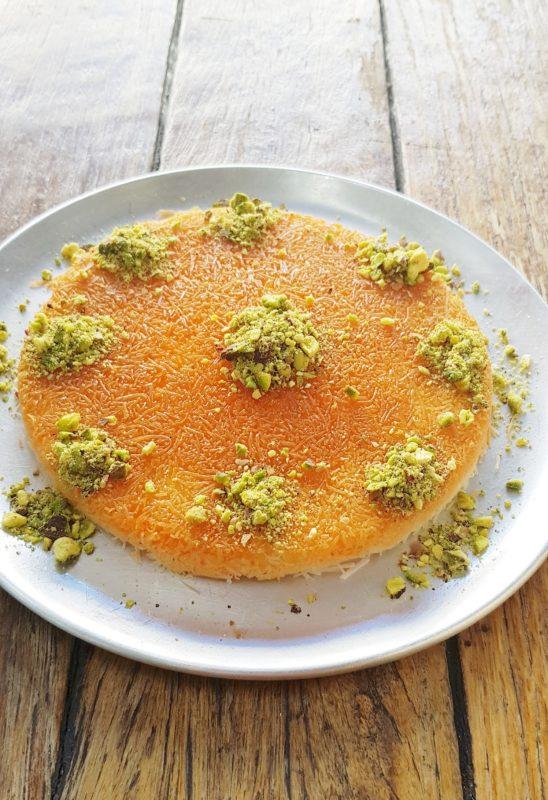 Palestinian kenafeh dish