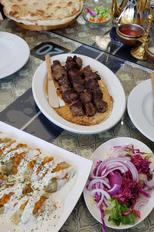 A table full of food at Kabul house