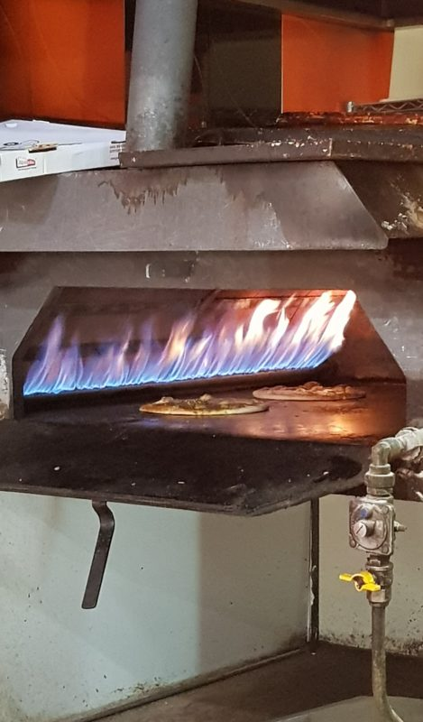 the oven at Kahills manoosh pizzeria