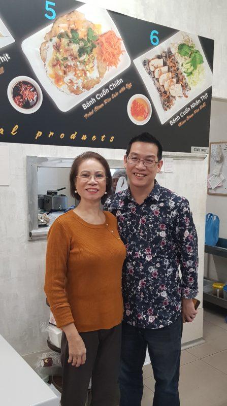 Kim and her son at Buhn Cuon Kim