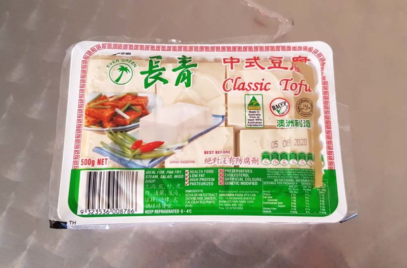 A packet of classic tofu