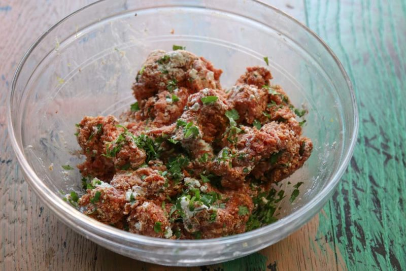 A bowl of Lamb mince with herbs