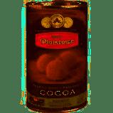 Dark Dutch cocoa powder in a tin, Plaistowe