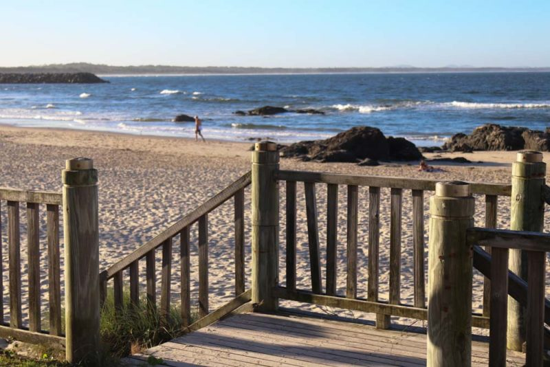 Town beach wooden stairs port macquarie