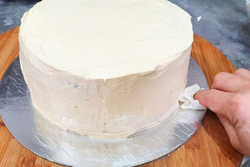 A ckae covered in buttercream
