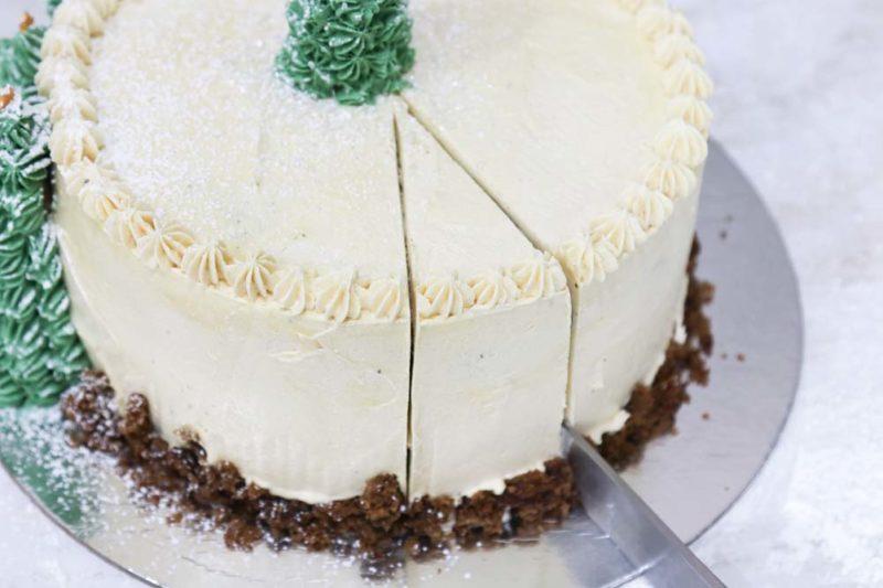 A slice of christmas cake