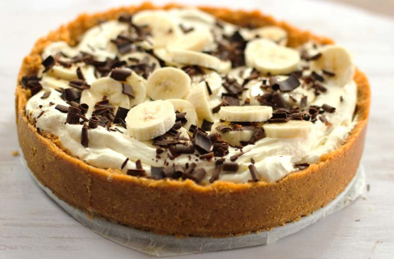creamy banana and caramel tart