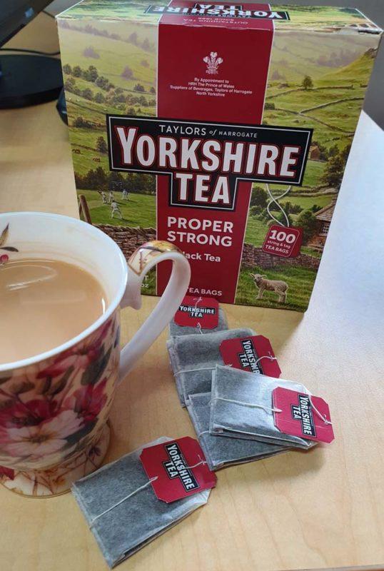 Yorkshore tea in a cup