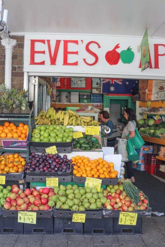 A vegetable store in Kogarah, NSW