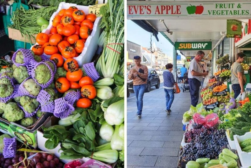 An array of fresh vegetables at Eves Apple
