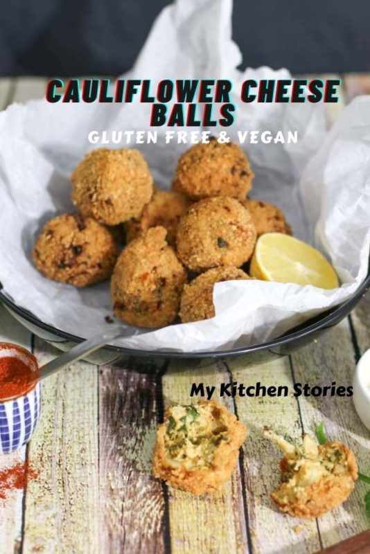 A basket full pof cheese balls that are vegan