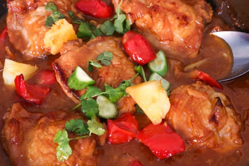 Sweet and sour sauce with chicken