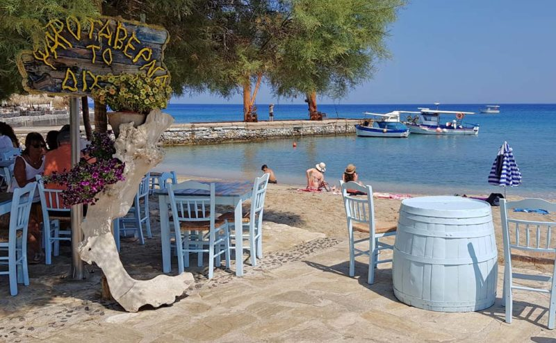 A taverna on the beach in Greece