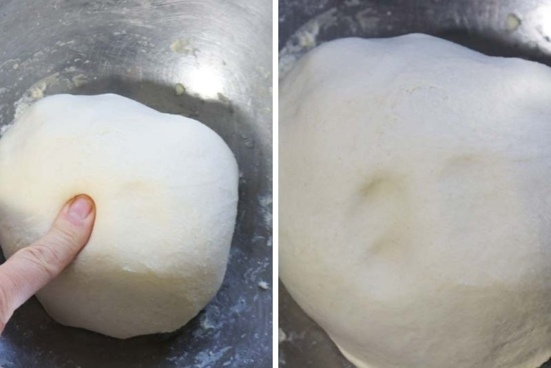 When you touch the dough it should leave indets from your fingers