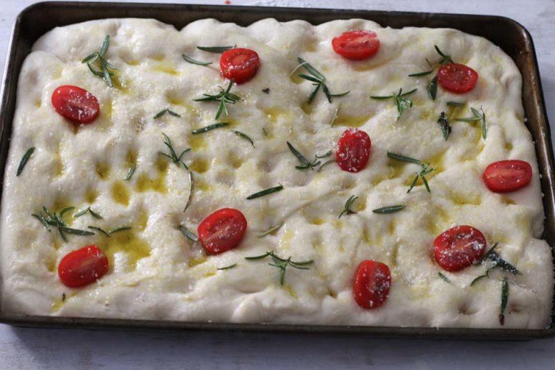 picnic focaccia bread Ready for the oven