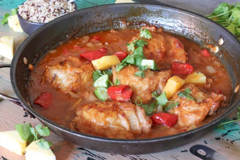 one pot chicken with sweet and sour sauce